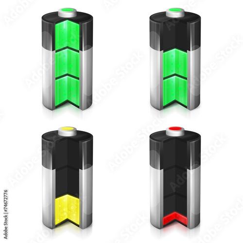 Leinwanddruck Bild Poziomy naładowania baterii