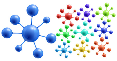 Abstract colorful molecules