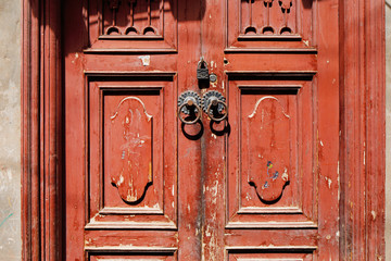 Ornate doors are common in the ancient city of Kashgar, China