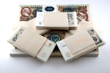 packs of banknotes