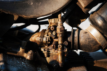 Carburetors still life engine