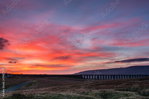 Sunset at Ribblehead Viaduct
