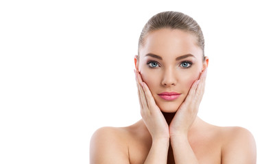 woman with beautiful healthy face