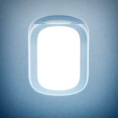 Window of the airplane