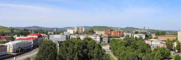 Panorama of the central historic district city Nizhny Tagil
