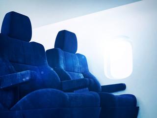 Sunny airplane interior