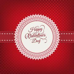 Valentines day vintage card. EPS 10