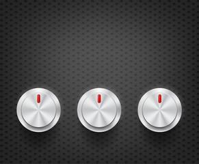 volume controls in darkness hexagon pattern
