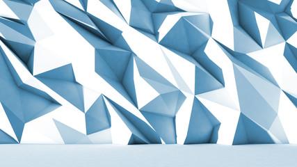 3d polygone beau fond texture bleu cristaux sol