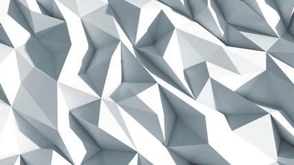 3d polygone beau fond cristaux texture blanc
