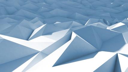 3d polygone beau cristaux fond texture bleu