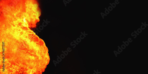 canvas print picture fire background