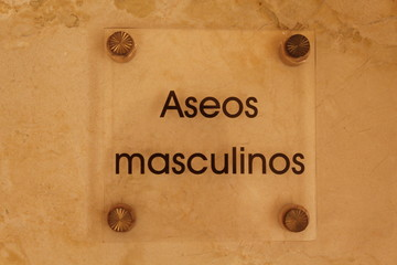 Toilet male symbol