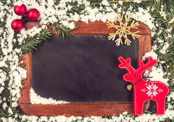 Vintage Chalk Board for a Christmas Greeting or Wish List.