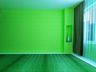 green room with window