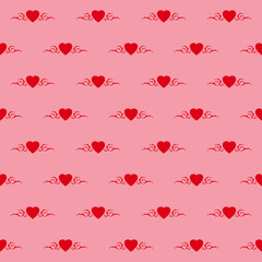 Heart rose, floral, seamless tileable