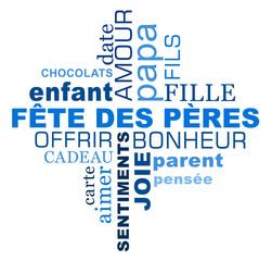 Fête des pères : nuage de mots