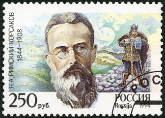 RUSSIA - 1994: shows N.A. Rimsky-Korsakov (1844-1908)