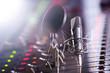 Studio Mischpult und Profi Mikrofon - 74678996