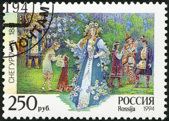 "RUSSIA - 1994: shows an episode from the opera ""The Snow Maiden"""