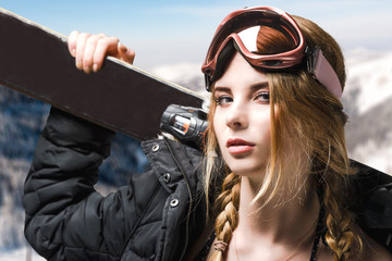 Extreme girl portrait