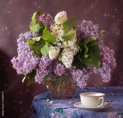 Foto op Canvas Lilac Сирень