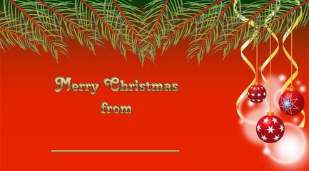 Biglietto auguri natalizio