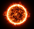 Burning atmosphere of red giant star