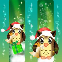 Eulen - Weihnachten