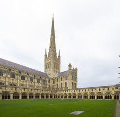Norwich Cathedral, Norfolk, England.