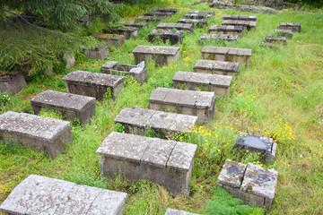 Archeological burial ground, Lipari, Italy