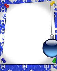 blank sheet for seasonal greeting