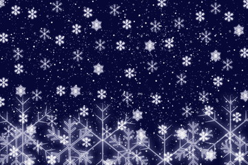 Snowflakes on a blue background