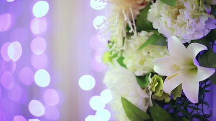 Flower decoration bokeh
