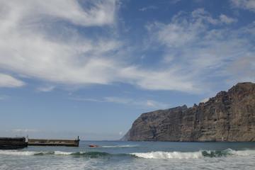 Guios beach in Los Gigantes, Tenerife, Canary Islands, Spain.