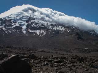Cloudy Snowy Chimborazo