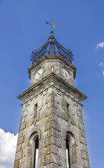 ancient clock tower in St Cristobal de Cea - Orense Spain