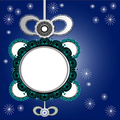 brooch new years theme texture