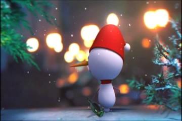 пьяный  снеговик