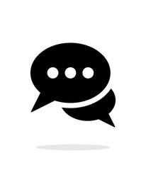 Dialogue icon on white background.
