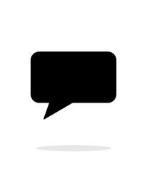 Rectangular bubble icon on white background.