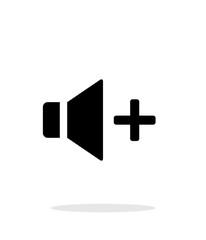 Speaker icon. Volume icon on white background.