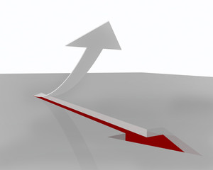 arrow up imprint - red white - index forex