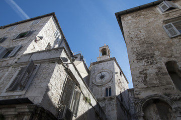 streets of the old town of Split, Croatia