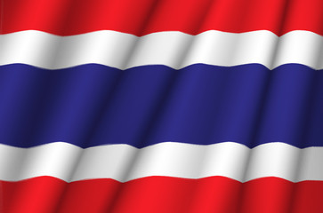 Fabric Flag of Thailand