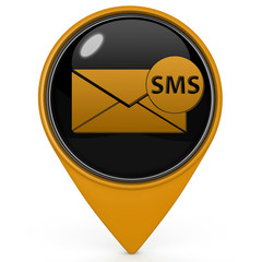 sms pointer icon on white background