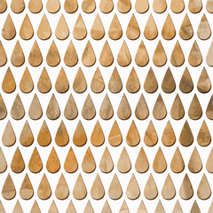 Vector Seamless Pattern with  Rain Drops on watercolor  backgrou