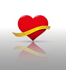 Heart and ribbon.