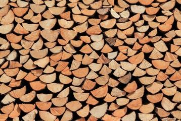 Holzstapel Brennholz