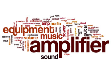 Amplifier word cloud